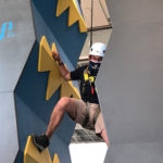 Person doing some climbing