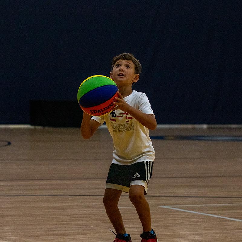 Boy shooting the ball