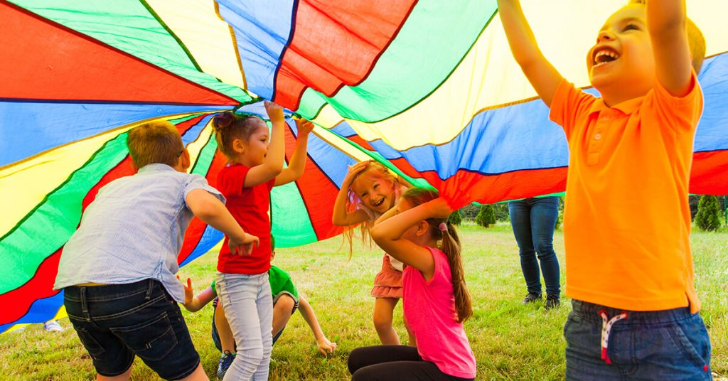 Kids playing at Summer Camps