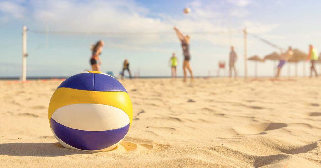 Beach Volleyball on sand